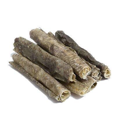Dried Cod Skin Tubes