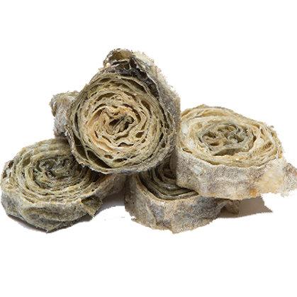 Dried Cod Skin Rolls